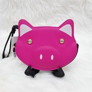 Luv Betsey Johnson Pig Wrislet Coin Purse LBFLUF5